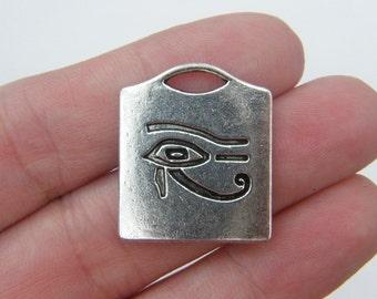 4 Eye of Horus pendants antique silver tone WT72
