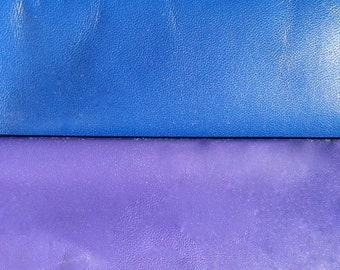 Liquid Nymph- Blue or Purple Leather Upgrades for Collars or Cuffs - Valentine's day Gift