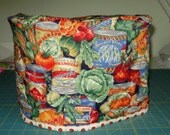 CUSTOM ORDER FOR  pat88 - reversible toaster cover - tomatoes and cans of veggies
