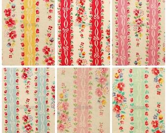 6 pieces of fabrics - Ribbon stripe by Atsuko Matsuyama