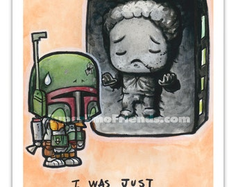 Boba Fetty with Hanny in Kawbunite 5x7