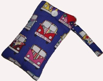 CAMPERVAN Mobile Cellphone Ipod Gadget Case Pouch Sock PADDED Gift Idea