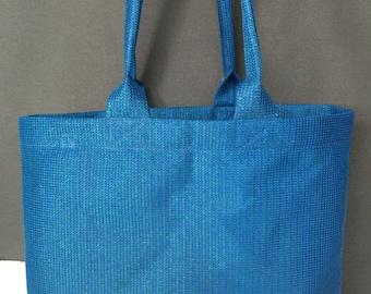 Mesh Tote Bag, Vegan Tote Bag, Vegan Mesh Bag, Vegan Tote Bag w/Pocket, Vegan Beach Bag, Vegan Grocery Tote, Medium Tote Bag, Shopping Bag,