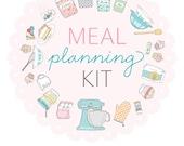 Meal Planning Kit - Digital File Instant Download- menu planning, recipe cards, with scripture