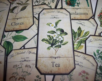Herbal  Apothecary Labels Set of 15 set no. 2