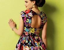 Peek-a-boo Back Dress Pattern, High Low Hemline Dress Pattern, Sz 6 to 14, Butterick Pattern 5919