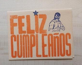 Feliz Cumpleaños Letterpress Card
