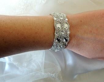 Wedidng Bridal Crystal Bracelet Cuff Bangle