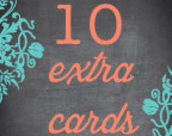Set of 10 Extra Cards - Style TN10