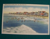 Vintage Looking South  Linen SEA ISLE CITY  New Jersey  Postcard
