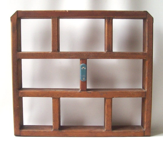 Vintage 1990 39 s wood shelf wall hanging by recyclebuyvintage for Home decor 1990s