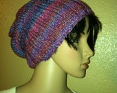 Slouchy - fashionable multi-color beanie/hat