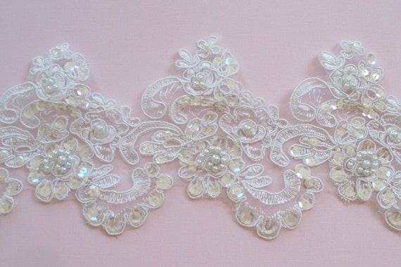 bordure en dentelle blanche dentelle de mari e mariage robe. Black Bedroom Furniture Sets. Home Design Ideas