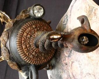 Raku Ray Gun Ceramic Sculpture - de Bergerac Epee la Luna
