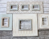 Set of 4 Distressed Picture Frames in Perfect Greige, Tradewinds, and Whitewash