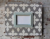 5x7 Distressed Vintage Inspired Dovetail Based Pinwheel and Quietude Trim