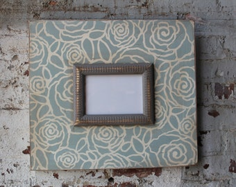 5x7 Distressed Vintage Inspired Quietude Blooms