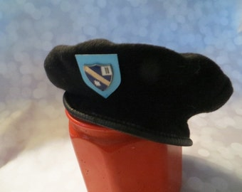 vINTAGE DENMARK military navy blue wool beret