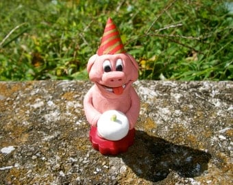 Pig Happy Birthday Cake Topper Party Animal