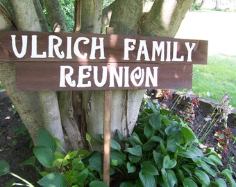 Family Reunion banner signs ideals Wedding beach rustic wood 1 Stake beach decorations country signage reception baby bridal shower ceremony