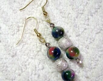 Marbled Earrings - Dangle Earrings - Earrings - E55