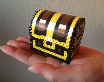 Zelda Chest 3D Perler