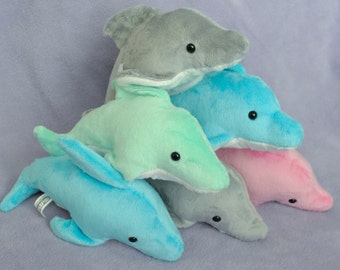 Dolphin Plushie - CHOOSE YOUR COLOR - Made To Order