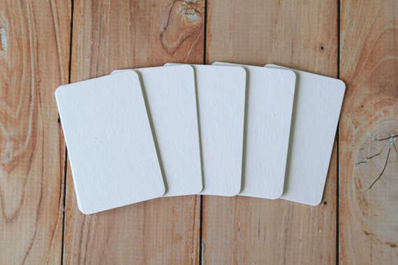 50pc VANILLA White Tinted Series Business Card Blanks