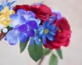 flower hair, bridal flower crown, wedding headpiece, hair accessories, flower girl
