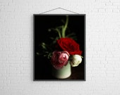 Still Life with Pink  Ranunculus Dutch Inspired Still Life Photograph