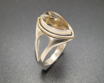 Sterlium Plus Rutilated Quartz Ring