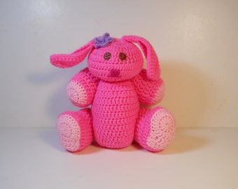 Crocheted Bunny rabbit stuffed amigurumi style