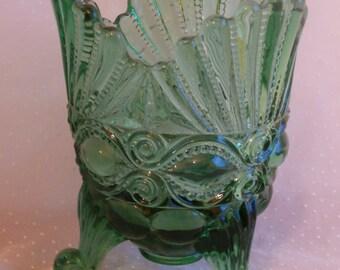 Green Eyewinker Spooner Vintage Wright Glass