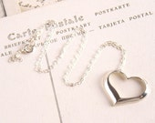Heart Necklace, Sterling SIlver Necklace, Valentine's Day Gift For Her - Simple Heart Necklace