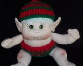 Baby Elf, Soft Sculptured Elf Doll,  READY TO SHIP