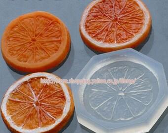 Orange slice soft mold. Floree miniature fruit mould/mold. One large orange slice