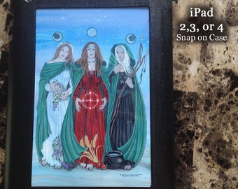 Triple Goddess iPad 2,3 or 4 Snap on Case