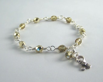 Embryonal Rhabdomyosarcoma Awareness Bracelet