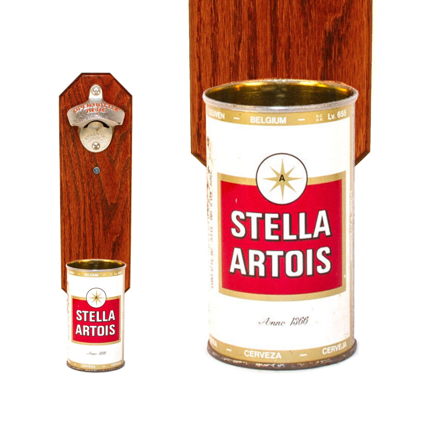 Stella Artois Wall Mounted Bottle Opener With Vintage By
