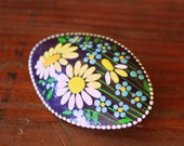 Vintage Daisy Pin Brooch Signed by Artist