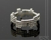 Tetris Ring - Sterling Silver
