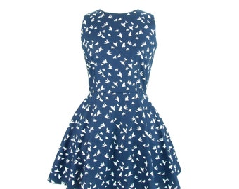 ON SALE!!!Blue and White Dove Dress