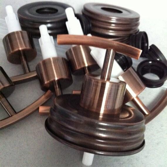 Mason Jar Soap Pump Dyi Kit Of 12 Rainbow Copper Item