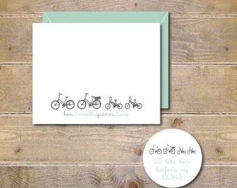 Bicycle Baby Announcements, Bikes,  Baby Shower Thank You Cards, Birth Announcements, Baby Thank You Cards, Tricycles,  New Baby Cards