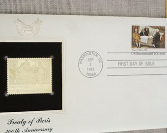 First Day Issue Stamp , Gold Stamp , Commemorative Stamp , Postage Stamp , Collectibles , Stamp Collecting , Scrapbooking , Postal Stamps