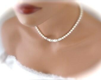 Ivory Pearl Necklace Wedding Jewelry Wedding Necklace Bridal Jewelry
