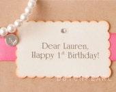 HAPPY BIRTHDAY - Personalized  kids jewelry bracelet with monogram - baby girl pearl bracelet - flower girl bridesmaid