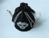 Skull Tea Cosy in Black and Grey - Made to Order