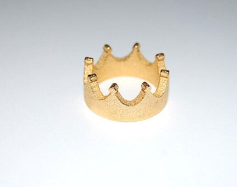 Gold  Crown Ring  - PREORDER