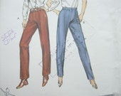 Kwik Sew 1400 Womens Pants or Trousers Vintage Sewing Pattern